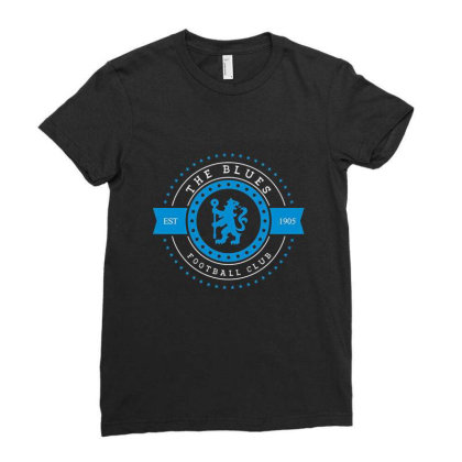 The Blues Football Club Stars Gear Ladies Fitted T-shirt Designed By Emanas