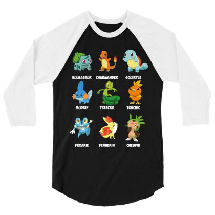 Characters 3/4 Sleeve Shirt Designed By Rardesign
