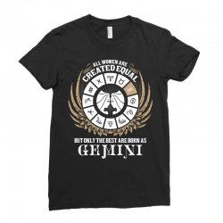 Gemini Women Ladies Fitted T-shirt Designed By Tshiart