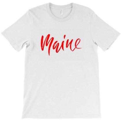 Retro Maine Heaven T-shirt Designed By Ariepjaelanie