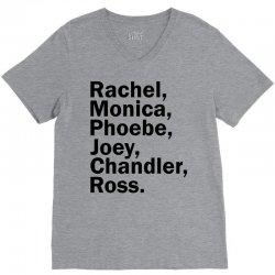 Rachel, Monica, Phoebe, Joey, Chandler,ross. V-Neck Tee | Artistshot