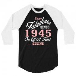 sassy fabulous since 1945 birthday gift 3/4 Sleeve Shirt | Artistshot