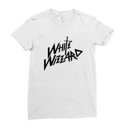 White Wizard Ladies Fitted T-shirt Designed By Kurtshop