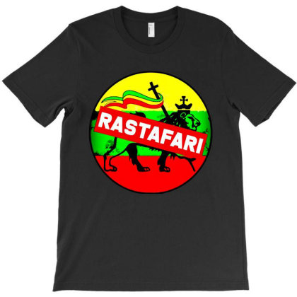 Rastafari Lion T-shirt Designed By Batikmadrim Art