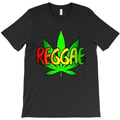 Reggae Leaf T-shirt Designed By Batikmadrim Art