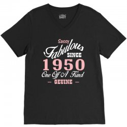 sassy fabulous since 1950 birthday gift V-Neck Tee | Artistshot