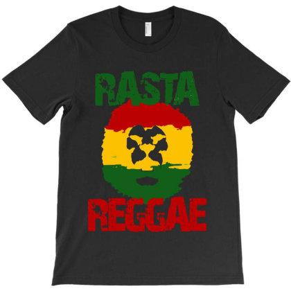 Rasta Reggae Lion T-shirt Designed By Batikmadrim Art