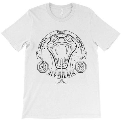 Slytherin Coat Of Arms T-shirt Designed By Batikmadrim Art