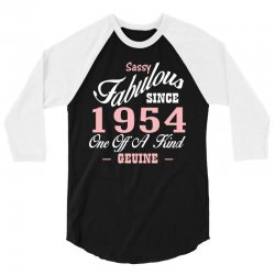 sassy fabulous since 1954 birthday gift 3/4 Sleeve Shirt | Artistshot