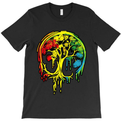 Colorful Tree Life Is Really Good T-shirt Designed By Batikmadrim Art