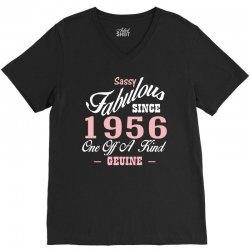 sassy fabulous since 1956 birthday gift V-Neck Tee | Artistshot