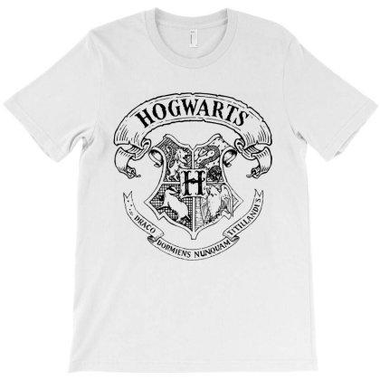 Coat Of Arms Of Hogwarts T-shirt Designed By Batikmadrim Art