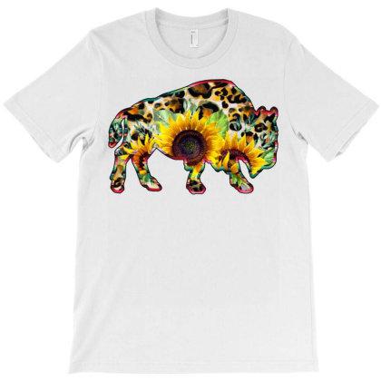 Sunflower Buffalo T-shirt Designed By Badaudesign