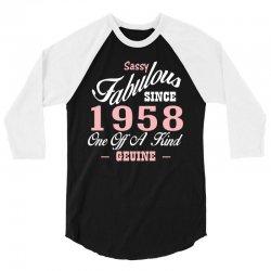 sassy fabulous since 1958 birthday gift 3/4 Sleeve Shirt | Artistshot