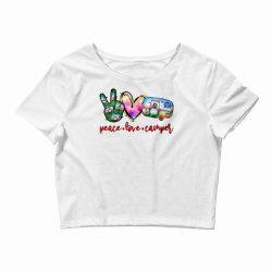 peace love camper Crop Top | Artistshot