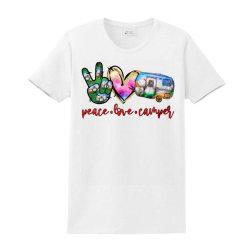 Peace Love Camper Ladies Classic T-shirt Designed By Badaudesign