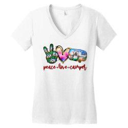 peace love camper Women's V-Neck T-Shirt | Artistshot