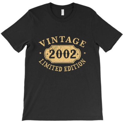 18 Years Old 18th Birthday Anniversary Gift Limited 2002 T-shirt Designed By Dontria