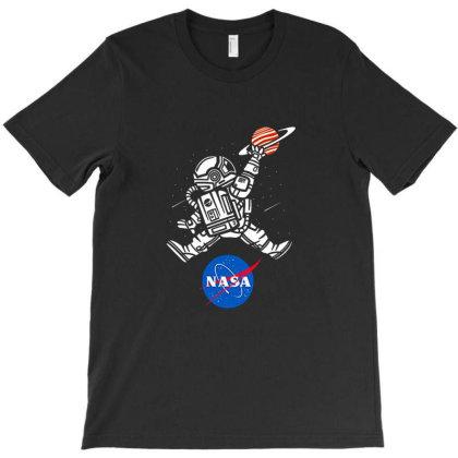 Astronaut Basketball League Slam Dunk Nasa T-shirt Designed By Dontria