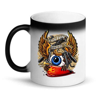 Flying Eyeball Retro Magic Mug Designed By Maadart