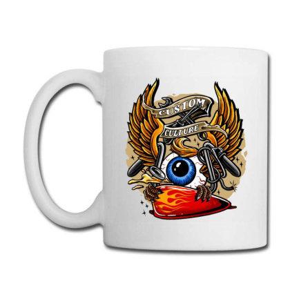 Flying Eyeball Retro Coffee Mug Designed By Maadart