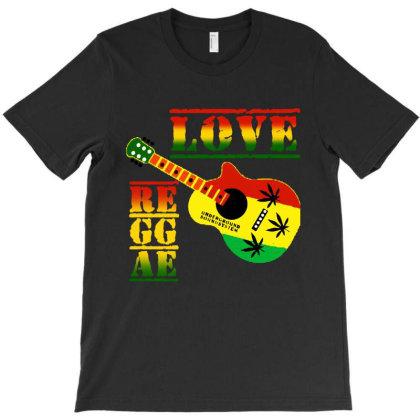 Love Reggae T-shirt Designed By Batikmadrim Art