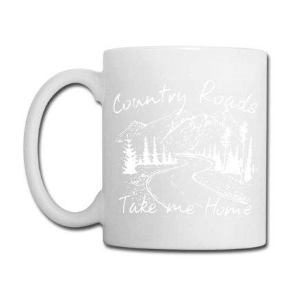 Country Roads Take Me Home Coffee Mug Designed By Kamprett Apparel