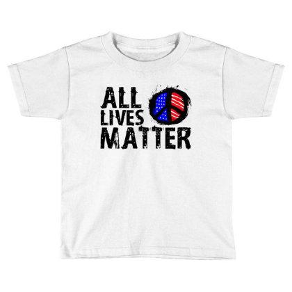 All Lives Matter Paint Art Toddler T-shirt Designed By Kamprett Apparel