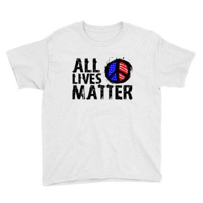 All Lives Matter Paint Art Youth Tee Designed By Kamprett Apparel