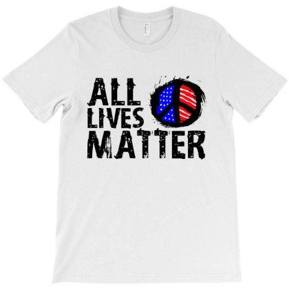 All Lives Matter Paint Art T-shirt Designed By Kamprett Apparel