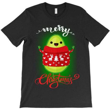 Funny Avocado Merry Christmas T-shirt Designed By Ww'80s
