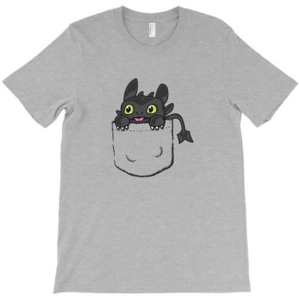 Pocket Toothless Dragon T-shirt Designed By Grues