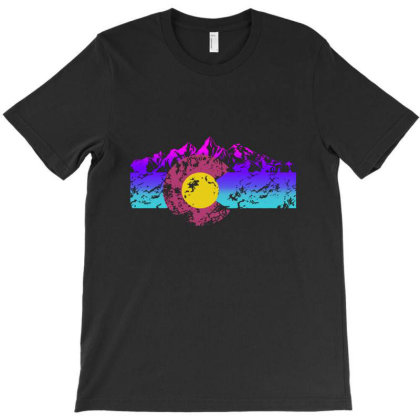 Colorado Flag Hoodie Colorful Rocky Mountains Version T-shirt Designed By Maungro