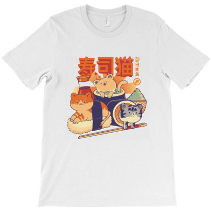 Sushi Cats T-shirt Designed By Maungro