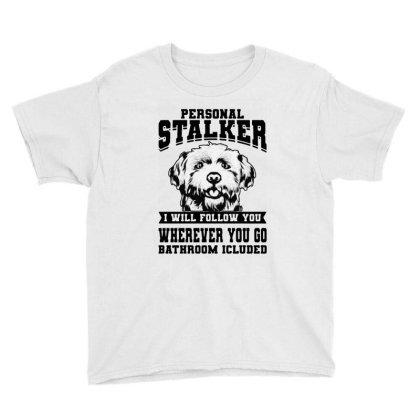 Personal Stalker Maltese Dog Youth Tee Designed By Scarlettzoe
