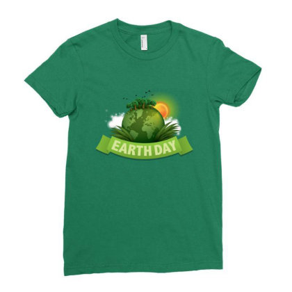 Clean Up The World Earth Day Ladies Fitted T-shirt Designed By Şen