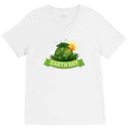 Clean Up The World Earth Day V-neck Tee Designed By Şen