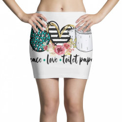 peace love toilet paper Mini Skirts | Artistshot
