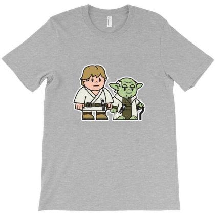 Mitesized Luke & Yoda T-shirt Designed By Navrn