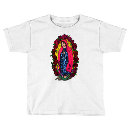 Guadalupe Blessed Virgin Mary T-shirt Toddler T-shirt Designed By Apollo