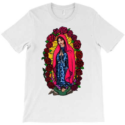 Guadalupe Blessed Virgin Mary T-shirt T-shirt Designed By Apollo