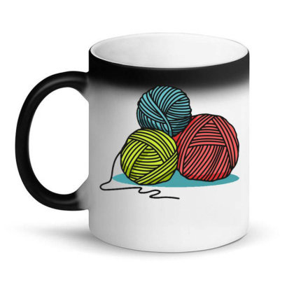 Ball Of Yarn Magic Mug Designed By Maadart