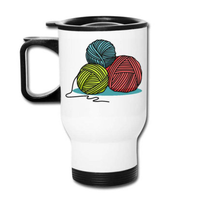 Ball Of Yarn Travel Mug Designed By Maadart