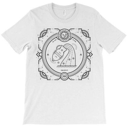 Aquarius Sacred Geometry Horoscope T-shirt Designed By Kamim.rogers