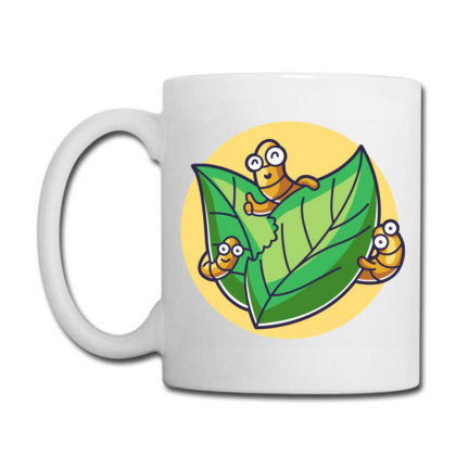 Caterpillar Eating Leaf Coffee Mug Designed By Maadart