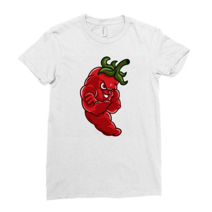 Chili Ladies Fitted T-shirt Designed By Maadart