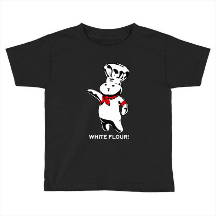 White Flour Dough Boy Toddler T-shirt Designed By Dongdot Apparel