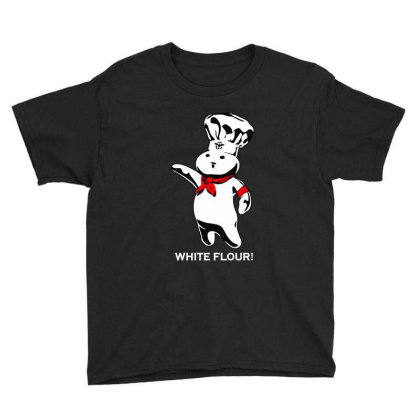 White Flour Dough Boy Youth Tee Designed By Dongdot Apparel