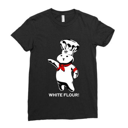 White Flour Dough Boy Ladies Fitted T-shirt Designed By Dongdot Apparel
