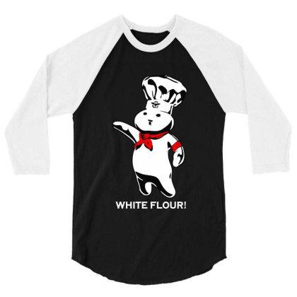 White Flour Dough Boy 3/4 Sleeve Shirt Designed By Dongdot Apparel